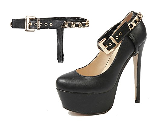 Style Flats Heel - Detachable Shoe Straps - To Hold Loose Heels, Wedges, Flats (Chain Style)