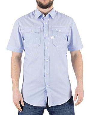 G-Star Men's Landoh Slim Fit Shirt, Blue