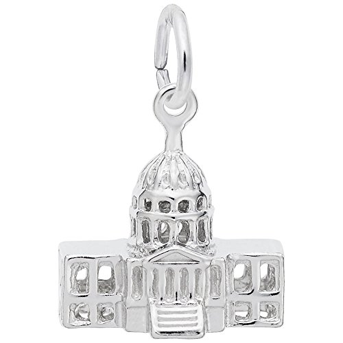 Rembrandt Charms, USA Capital Building, 14k White Gold