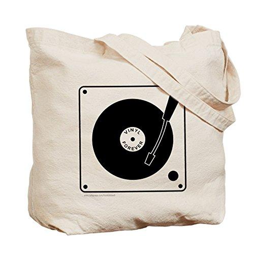 CafePress–VINYL RECORD–Leinwand Natur Tasche, Reinigungstuch Einkaufstasche Tote S khaki