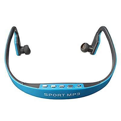 Sport Wireless Headset Headphone Earphone MP3 Music Player Micro SD TF FM Radio,White
