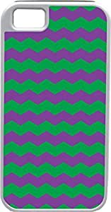 Blueberry Design Apple iPhone 4 Case iPhone 4S Case Zigzag Wave Design Green and Purple - Ideal Gift