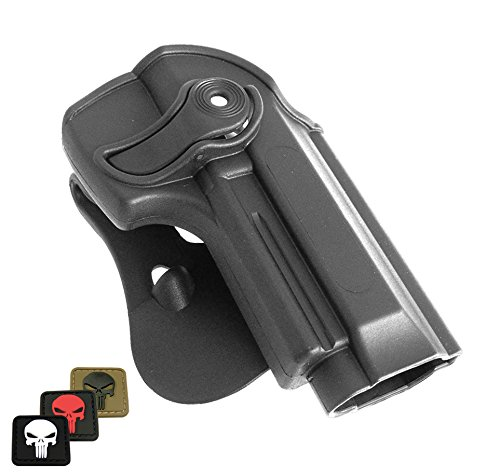 IMI-Z1250 IMI Defense Polymer Roto Right Hand Paddle Holster for Beretta 92 / 96, + 1x mini PVC Punisher patch