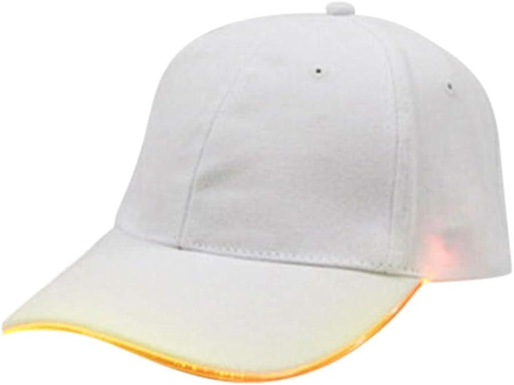 TWIFER Gorra de béisbol con luz LED Hombre Mujer Ajustable Gorras ...