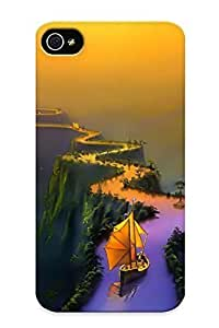 Crazylove Case Cover Ship On River Bridge / Fashionable Case For Iphone 4/4s