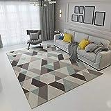 GIY Geometric Living Room Area Rugs 3D Rug Rectangular Carpets Children Bedroom Mats Outdoor Indoor Home Decor Runners 4' X 5'