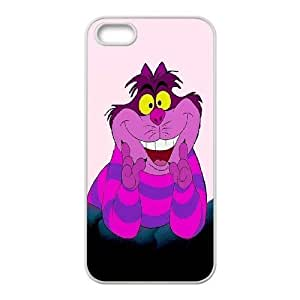 K-G-X Phone case For Apple Iphone 5 5S Cases Case-Pattern-8 Alice and Cheshire Cat Pattern Protective Back Case