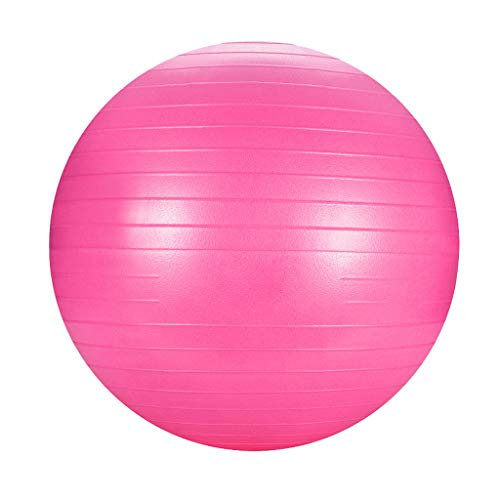 (Jinjin Exercise Ball (25.5inch) Extra Thick Yoga Ball Chair, Anti-Burst Heavy Duty Stability Ball, Birthing Ball with Quick Pump (Office & Home & Gym) Anti-Slip & Anti-Burst, Yoga, Pilates (Pink))