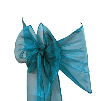 Fabulous Mds Pack Of 100 Organza Chair Sashes Bow Sash For Wedding And Events Supplies Party Decoration Chair Cover Sash Dark Teal Creativecarmelina Interior Chair Design Creativecarmelinacom