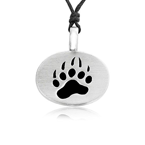 Dan's Jewelers Classic Bear Claw Necklace Pendant, Fine Pewter Jewelry