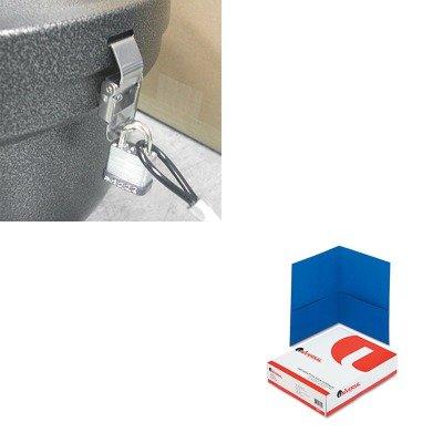 Smokers Oasis Lock Kit (KITEXCSRSLCKKITUNV56601 - Value Kit - Ex-cell Smokers' Oasis Lock Kit (EXCSRSLCKKIT) and Universal Two-Pocket Portfolio (UNV56601))