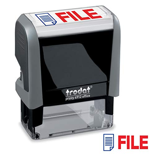 - File Trodat Printy 4912 Self-Inking Two Color Stock Message Stamp