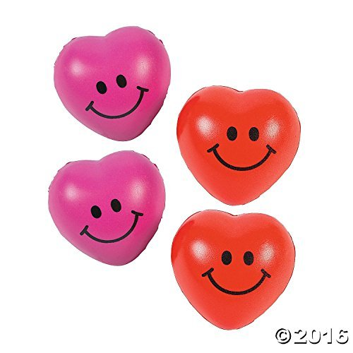 Fun Express Mini Heart Relaxable Balls (3 Dozen)
