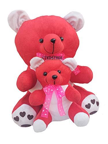 TEDSTREE Teddy Bear Toy  40 Cm, Red
