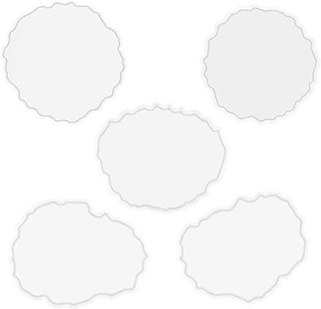 4 St/ück Silikonformen Epoxidharz Set,Silikonform Untersetzer,Resin Silikonform,Silikonform Resin Mold Gie/ßformen
