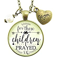 "24"" Mother's Necklace For These Children I Prayed Christian Mom Faith Inspired Jewelry Meaningful Keepsake Pendant Gift"