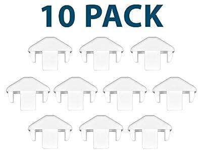 White 7/8 Inch X 1.5 Inch PVC Vinyl Dog-Ear Picket Caps | 10 Pack | AWCP-PIC-.875X1.5DE-10PK