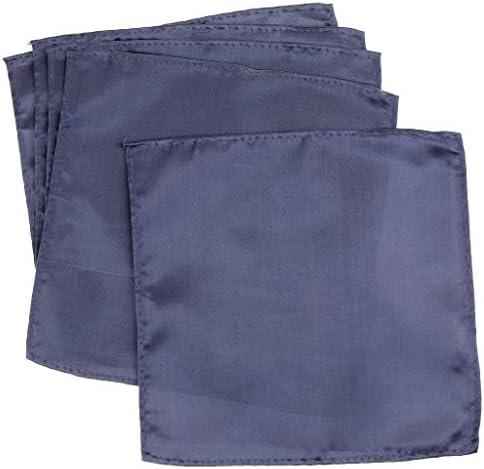 5枚 新郎 スーツ ポケット タオル スクエア タオル ソフト ポリエステル シルク 5色選べ