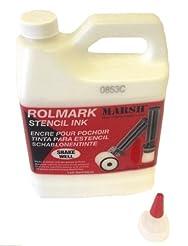 MARSH Rolmark Stencil Ink, 1 qt Can, Whi...
