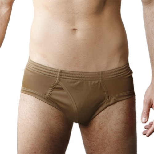 Players Men's Tricot Brief -Brown-X-Large