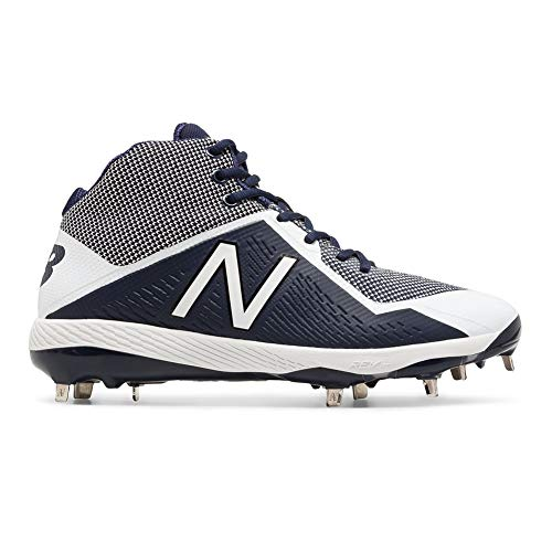 - New Balance Men's M4040v4 Molded Baseball Shoe, Navy/White, 10 D US