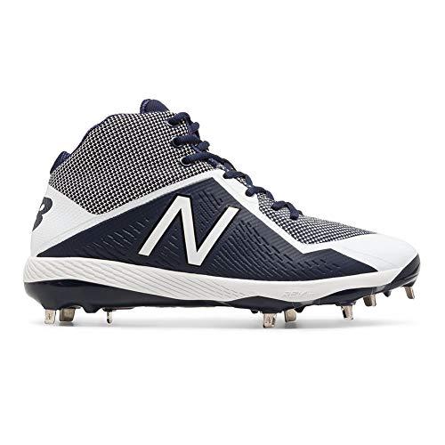 (New Balance Men's M4040v4 Molded Baseball Shoe, Navy/White, 11.5 D US)