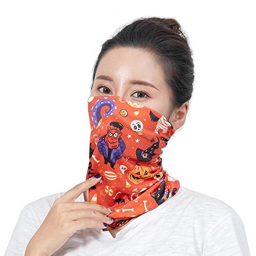 UOKNICE Halloween Neutral Outdoor Head Scarf Neck Windproof Face Mask Sun Protection Headband ()