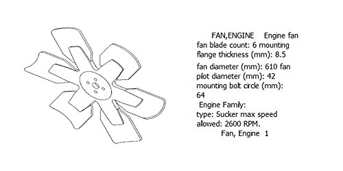 Engine fan 4931788 for diesel engine: