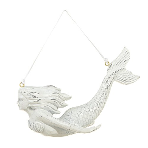 White Mermaid Swimning Ornament
