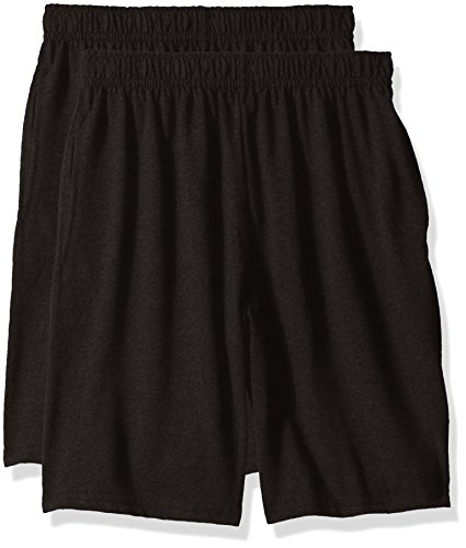 - Hanes Big Boys' Jersey Short (Pack of 2), Black, M