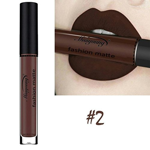 Liquid Lipstick Moisturizer Velvet Lipstick Cosmetic Beauty Makeup Silk Soft Lip Gloss (B)