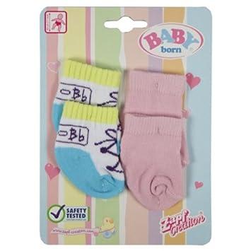 Zapf 801611 - Baby Born Puppen-Socken - Kleidung Zubehö r fü r Baby Born Puppe ... Zapf Creation