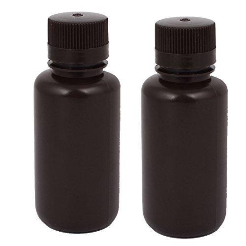 eDealMax 2Pcs 250ml en Plastique chimique de laboratoire flacon de réactif échantillon Épaississez Brown Bottle (Flacon Bottle)