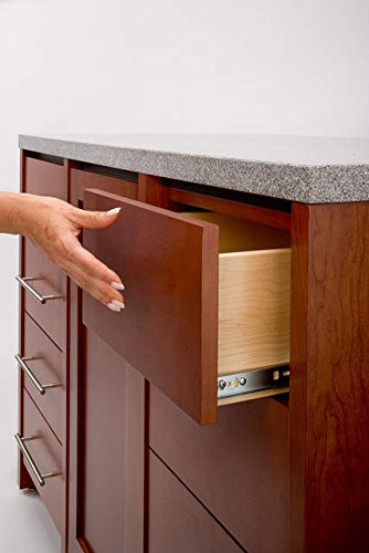 1 Pair full extension Push to open drawer runners slide with autolock H45 500mm