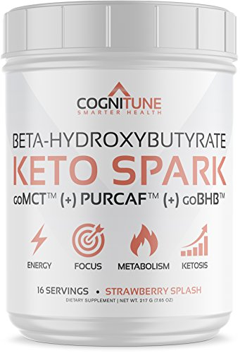 Keto Spark Energy Supplement - Exogenous Ketone Drink Mix with BHB Salts (goBHB), MCT Powder (goMCT), Organic Caffeine (PurCaf), Collagen - Ketogenic Diet, Weight Loss & Fat Burning - 7.65oz (Power Mix Drink Carb)