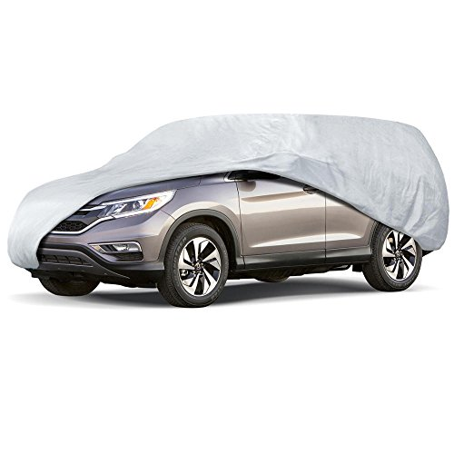 (Motor Trend OV541 All Season Weatherwear 1-Poly Layer Snow Proof, Water Resistant Van/SUV Cover Fits up to 200 Inch)