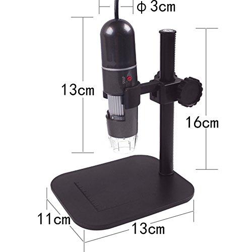 T.Face USB Microscope Practical Electronics USB 8 LED Digital Camera Microscope Endoscope Magnifier 50X~500X Magnification Measure