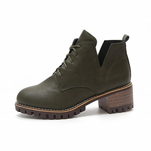 en de Casuales Botas Botas Zapatos Zapatos Redondas Gruesos Las Nieve Botas Botas Planos Cálidos Zapatos AUWy6Bc6