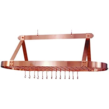 Amazon Com Old Dutch Oval Hanging Pot Rack With Grid Amp 24