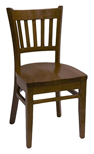 Mahogany Solid Wood Seat - American Tables & Seating 900-DM-SWS 5 Slat Back Wood Chair, Solid Wood Seat, 17