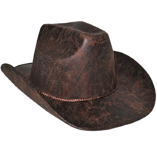 Brown Cowboy Hat - Adult Std. (Halloween Costumes Marshall Texas)