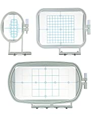 3pcs/set Embroidery Machine Hoop Frame Set Sew Tech Hoops Sewing Machine Accessories for Brother SE270D SE-350 SE-400 HE-120 hE-240 500D Babylock Sofia A-Line Series
