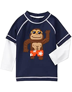 Baby Toddler Boys' Nvy Monkey Rashguard