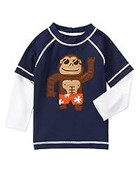 Gymboree baby-boys Toddler Boys Nvy Monkey Rashguard