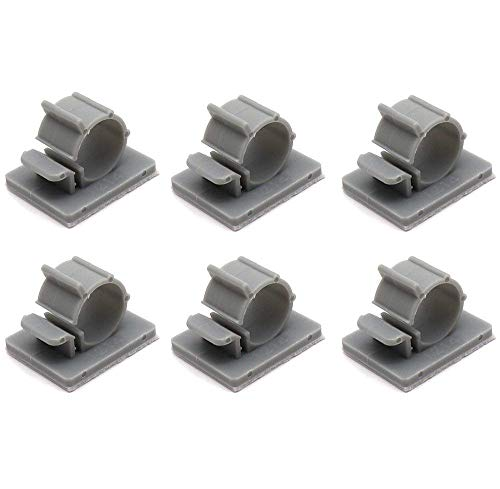 Yootop 50 Pcs Gray Adjustable Self Adhesive Cable Clips Nylon Wire Holder Organizer for Car Office ()