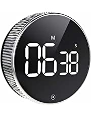 OVEKI Kitchen Timer, Magnetic Countdown LED Digital Timer,Twist One Button Operation for Teacher Kids and Elderly,for Classroom Home Work Fitness (Without Brightness Switch)