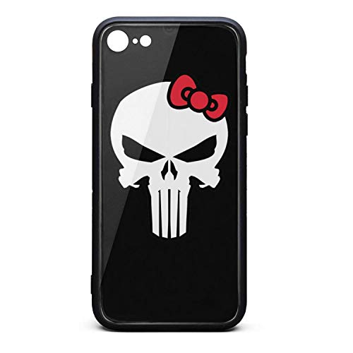 (The-Punisher-Kitty-mash-up- Phone Case for iPhone 7/8 Full Protective TPU Rubber Shockproof Anti-Scratch Fashionable Glossy Anti Slip Thin Case)