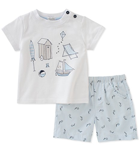 absorba Baby Short Set Boys, Blue, 3-6 Months