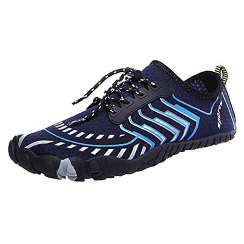 WFeieig Mens Womens Water Shoes Barefoot Beach Quick Dry Swim Diving Surf Sports Beach Walking Yoga Exercise Shoe Blue