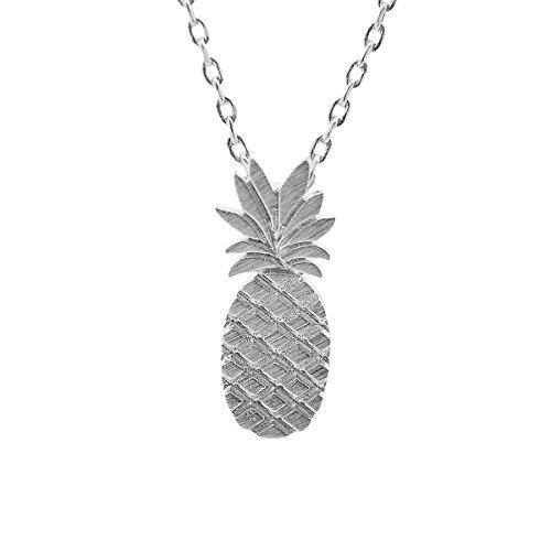 SpinningDaisy Handmade Brushed Pineapple Necklace